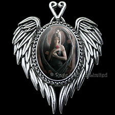 ANGEL ROSE Enchanted Cameo Ribboned Fantasy Art Pendant By Anne Stokes (EC13)