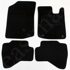 Peugeot 107 2005 onwards Tailored Carpet Car Mats Black 4pc Floor set 2 clips