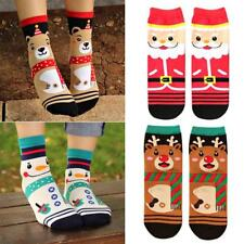 4 Pairs Women Winter Socks Warm Cotton Sock Santa Claus Deer Xmas Great Gift BS