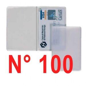N° 100 pezzi porta patente - carte di credito - bancomat  trasparente .
