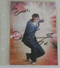 Dr. WHO Tenth Doctor DAVID TENNANT Autograph 6 x 4 Post Card Dr. Who Signed
