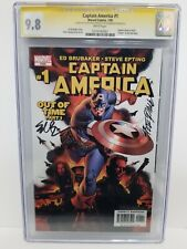 Captain America #1 CGC 9.8 SS 2X Epting, Brubaker. 1st App. Winter Soldier Cameo