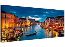 Blue Cheap Canvas Print of Venice Gondolas Italy 1068
