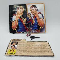 Vintage GI Joe Cobra Crimson Twins Xamot Action Figure with Gun and File Card