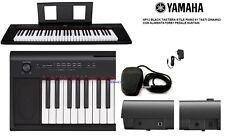 YAMAHA NP12 BK TASTIERA STILE PIANO 61 TASTI DINAMICI + ALIMENTATORE e SUSTAIN