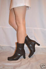 Women Brown Ankle Boots Real Leather Slim Fit Zipped Treviso Size 7