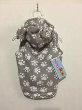 """Puppy Love """"Lots of Hearts and Paws So Cozy Gray and White Hoodie Small"""