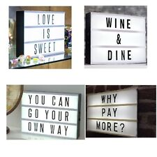 A4 Cinematic Illuminated Light Up Message  Letter Box Word Display-Black Casing