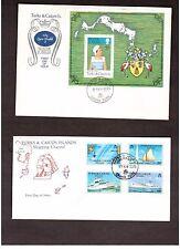 2 FDC Turks & Caicos Islands 1977 SILVER JUBILEE OF QUEEN ELIZABETH Ships Yachts