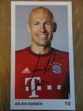 Handsignierte AK Autogrammkarte *ARJEN ROBBEN* FC Bayern München 15/16 2015/2016