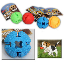 Dog Chew Balls Tough Strong Soft Coloured Plastic Pet Play Training Activity Toy