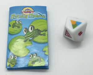 Cranium MATCHING MADNESS Game Replacement Pieces Parts DIE & RULES SHEET Dice