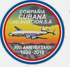 Cubana de Aviacion  -  90th Anniverssary Embroided Patch