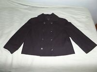 NEW YORK & CO. WOMEN'S BLACK CROPPED COLLARED JACKET SIZE LARGE