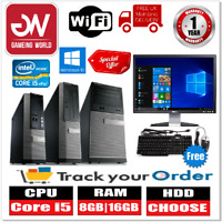 """Dell PC Computer Tower SFF BUNDLE i5 2nd Gen 1TB HDD 16GB RAM WIN10 19"""" Monitor"""
