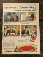 RARE Vintage 1939 Campbell's Tomato Soup Ad Colorfoto Illustrated 11.5x15 inch