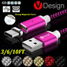 Magnetic Type-C Micro USB Fast Charging Cable Charger For Samsung Galaxy S8/S6/7