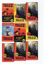 LOT DE 9  CARTES TELEPHONE TELE 2