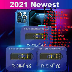 2021 R-SIM16 Nano Unlock RSIM Card for iPhone 12 Pro MAX /11/XR/8/7 Plus iOS14