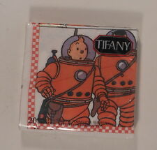 Tintin Herge rare pack 20 serviettes papier Lune Tifany annees 90 TBE