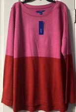 Women's Apt 9 Red/Pink Sweater Size XL