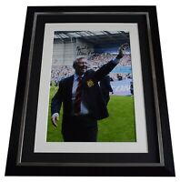 Alex Ferguson Signed Autograph 16x12 framed photo display Manchester United COA