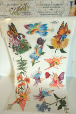 Tatouage Dry rub Transfer Wall / Garden Fairies Floral / Carolyn Yovan / New