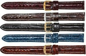 New Men's Regular Sport Genuine Crocodile Watch Strap Band