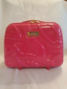Antler Vanity Case Make Up Toiletries Pink Carry Handle Hard Shell. Ex condition