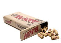 100 x RAW Pre Rolled Roach Filters Tips IN in King Size Stash Tin 100% Genuine