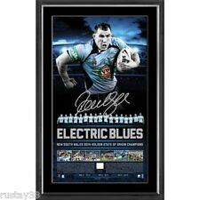 NSW 2014 STATE OF ORIGIN PAUL GALLEN SIGNED CHAMPIONS PRINT HAYNE DALEY MORRIS