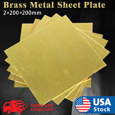 1pcs Brass Metal Sheet Plate 2*200*200mm