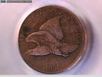 1858 Flying Eagle Cent PCGS F 12 Small Letters 18355650 Video