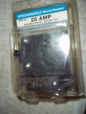 Interchangeable Ct. Elec 20 Amp Double Pole 120 240 Vac Circuit Breaker Icbq-220