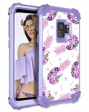 For Samsung Galaxy S9 Case Cute Purple Hybrid Shield Armor Shock Resistat Cover