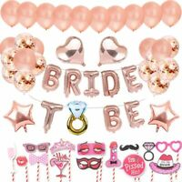 BRIDE TO BE Bannière Décorations OR Rose Bachelorette , ballons, Accessoires