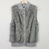 JEANSWEST | Womens Faux Fur Vest / Jacket  [ Size M or AU 12 or US 8 ]