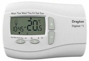 Drayton 22083 Digistat+3  7 Day Programmable Room BATTERY Thermostat REF-KDE45FV