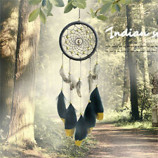 Handmade Dream Catcher With Feathers Car Wall Hanging Decoration Ornament BlackP