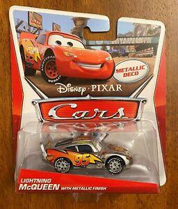 Disney Pixar Cars - LIGHTNING McQUEEN WITH METALLIC FINISH - SILVER DECO (2013)