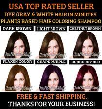 5 PCS DARK BROWN HAIR DYE SHAMPOO COLOR GRAY&WHITE HAIR 6 COLORS WOMEN&MEN
