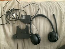 Plantronics WH350 Headset & charge cradle  w/AC Adapter