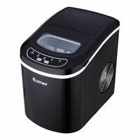 Black Portable Compact Electric Ice Maker Machine  Mini Cube 26lb/Day New