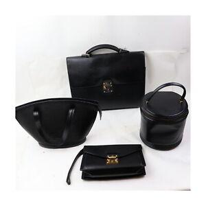 Louis Vuitton Epi Hand/Vanity Bag Clutch Brief Case 4 pieces set 525641