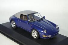 Minichamps 1/43 Porsche 911 Cabriolet Soft Top (1994) blau metallic OVP #5063