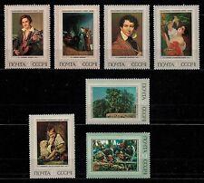 USSR RUSSIA STAMP/Mint. Série complète: 7 timbres de 1973. Musées Russes.