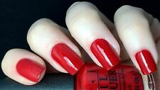 NEW! OPI Nail Polish Vernis WHAT'S YOUR POINT-SETTIA? ~ Bright RED Creme