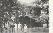 Morgantown PA * Mrs. Hattie Commins & Home  ca. 1908  Berks Co.  C.G. Gross Pub.