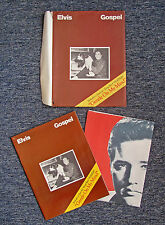 "1977 ELVIS PRESLEY ""GOSPEL"" SONG BOOK + ""GENTLE ON MY MIND"" SONG SHEET POSTER"