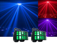 2) American DJ ADJ AGGRESSOR HEX LED 6-Color RGBCAW White Sound-Activated Lights
